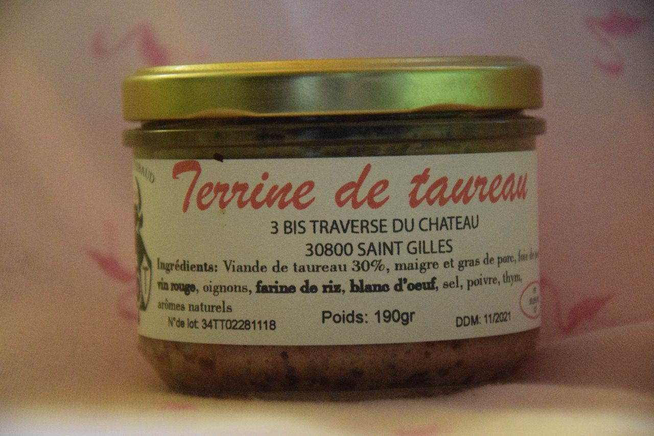 Terrine de taureau nature 190 gr